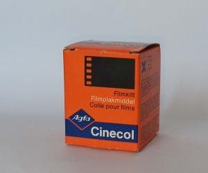Super-8, cine amateur, cola pegado edición película