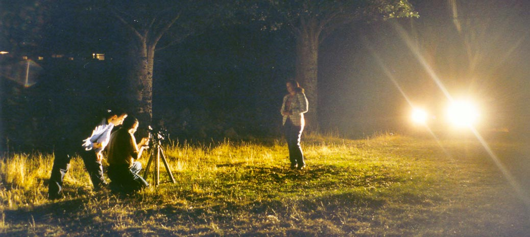 cortometraje rodando cine escena