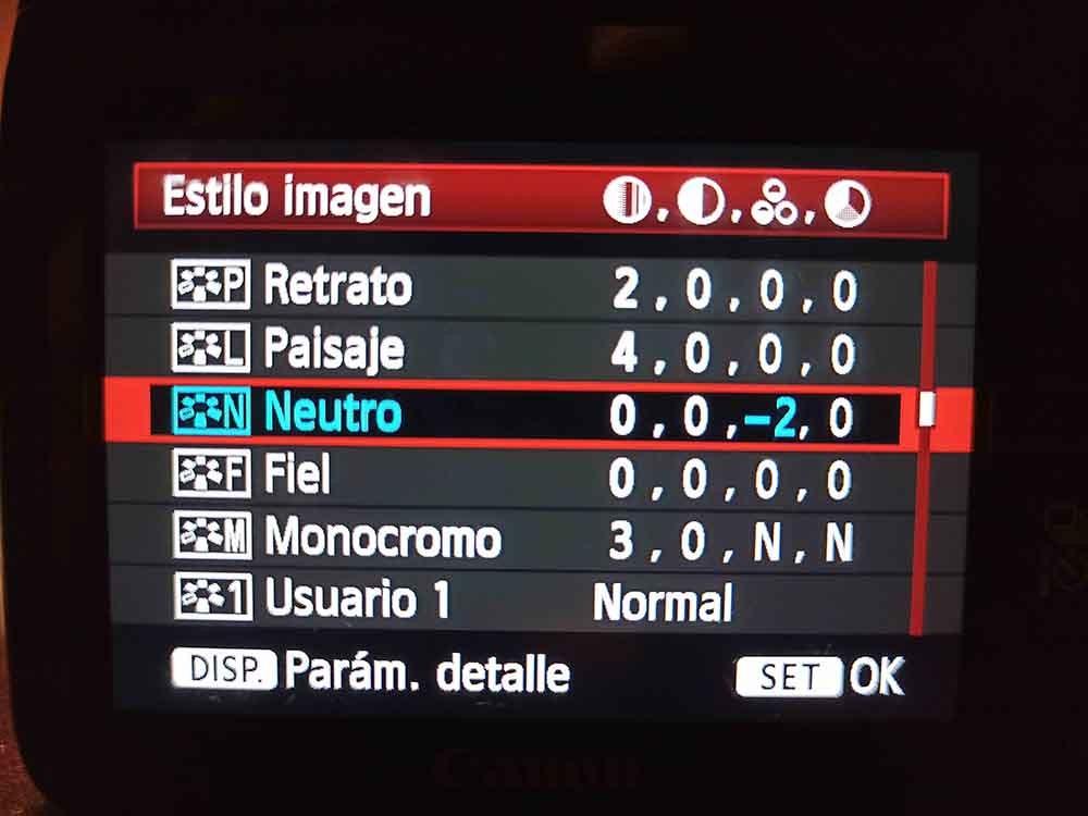 PRESET NEUTRO DSLR CANON