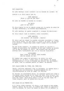 Guión escritura script writing